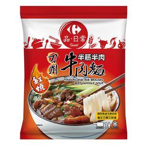 家樂福半筋半肉紅燒牛肉麵(刀削麵)