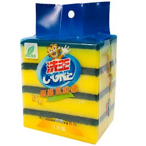 洗王抗菌海棉菜瓜布-4PC