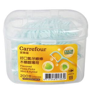 C-Flavored Floss-Picks Mint  Xylitol