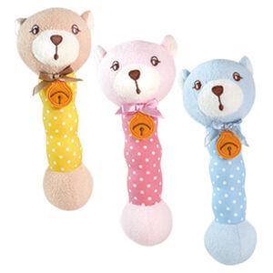 優生棒棒搖鈴-小熊 藍/粉/黃-顏色隨機出貨適用年齡:0~3歲