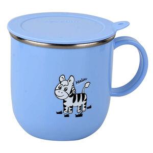 斑馬兒童馬克杯 附蓋/250ml-顏色隨機出貨