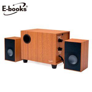 E-books D27 重低音2.1聲道木質喇叭