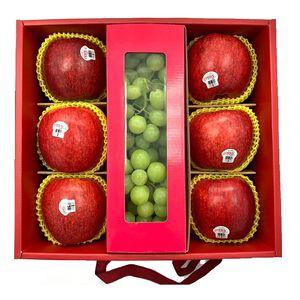 優果園紐西蘭Envy蘋果+美國綠無籽禮盒3件組 (預計出貨日 : 8月中旬後)