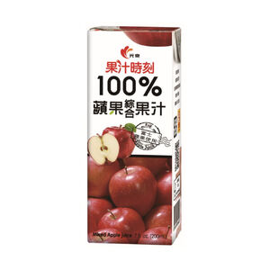 光泉果汁時刻100%蘋果綜合果汁200mlx24