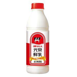 光泉100%純全脂鮮乳(無調整)936ml到貨效期約6-8天