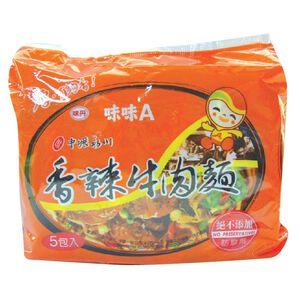 味味A香辣牛肉麵(袋) 83g
