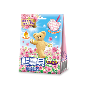 熊寶貝衣物香氛袋-花漾香氣-7gx3