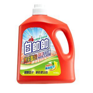白帥帥抗菌洗衣精-鮮彩豔色-3150g