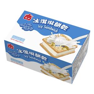 義美冰淇淋餅乾(家庭號)牛奶75gx4