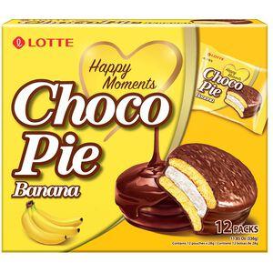 LOTTE 巧克力派-香蕉風味(12顆裝)