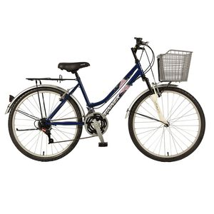 【大專開學購起來】Jelum 26吋21速前避震腳踏車附籃-顏色隨機出貨