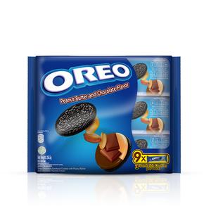 奧利奧花生醬巧克力口味夾心餅乾隨手包-257g(28.5gx9)