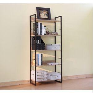 Lister 3D wood grain five shelf