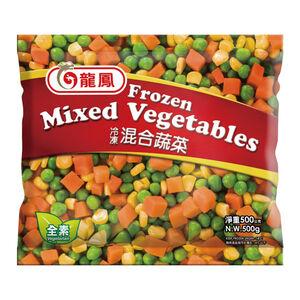 龍鳳冷凍蔬菜-三色混蔬-500g