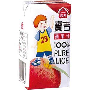 義美寶吉純果汁蘋果TP125ml
