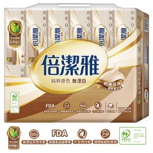 倍潔雅無漂白PEFC衛生紙-100PC
