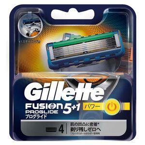 吉列無感動力刮鬍刀頭-4PC
