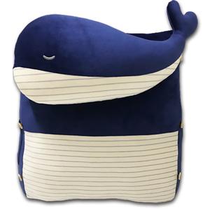 多用途舒壓三角靠墊-藍鯨