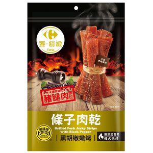 家樂福黑胡椒嫩烤條子肉乾-110g