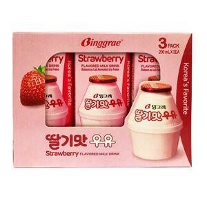 Strawberry flavored milk drink