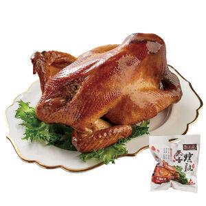 麒王府蔗香燻雞(熟凍品-熟品每隻約1.2公斤)