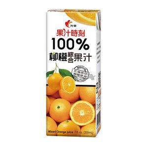 光泉果汁時刻100%柳橙綜合果汁200mlx6