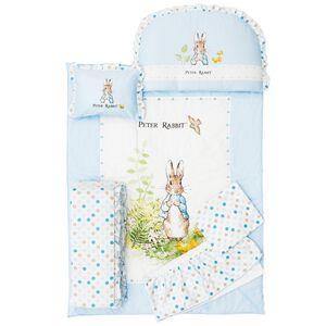 【奇哥】花園比得兔六件床組M-藍