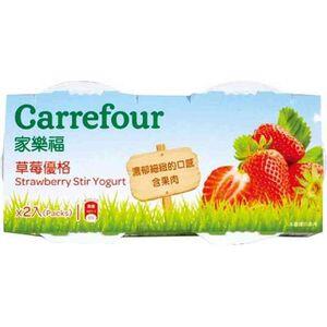 家樂福草莓優格-100g到貨效期約6-8天