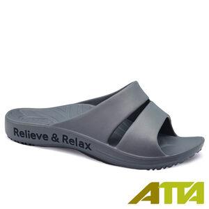 ATTA運動風簡約雙帶休閒拖鞋6689