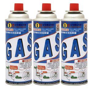 藍卡F005卡式瓦斯罐3入