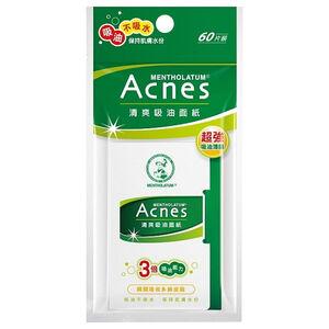 曼秀雷敦Acnes清爽吸油面紙(60片/包)