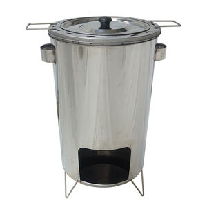 Upright barrel chicken oven