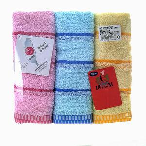 1881純棉緞檔毛巾3入