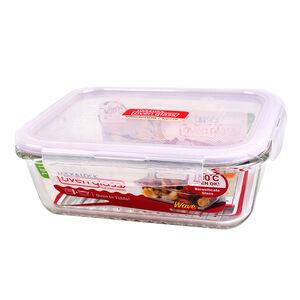 樂扣耐熱波浪玻璃保鮮盒長方1L