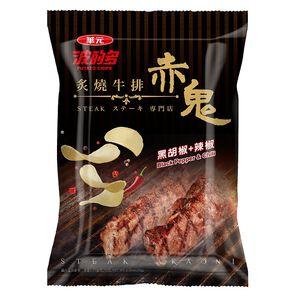 華元波的多洋芋片-赤鬼炙燒牛排風味72g