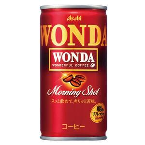 Asahi Wonda Coffee morning shot