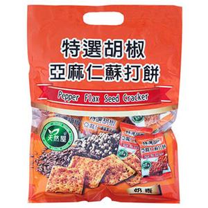 Pepper flax seed cracker