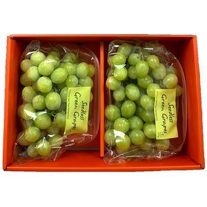 優果園美國加州綠無籽葡萄禮盒(約2KG)