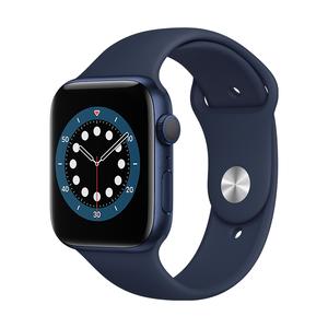 AppleWatch S6 GPS 44mm-M00J3TA/A(藍色鋁金屬錶殼/海軍深藍色運動型錶帶)