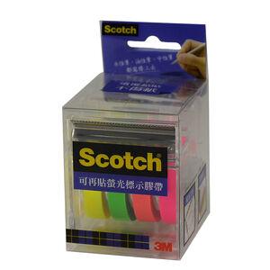 3M Scotch可再貼螢光膠帶