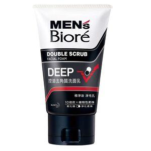 MENS Biore Facial Foam double scrub Clea