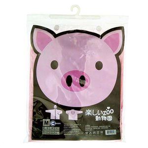 動物系列兒童雨衣-小豬粉 M
