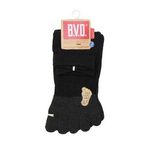 BVD男女適用1/2竹炭五趾襪