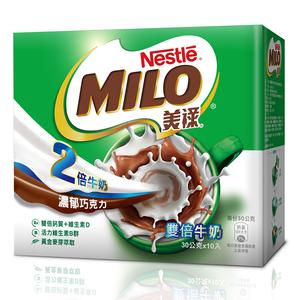 雀巢美祿三合一雙倍牛奶盒裝-30gx10