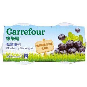 家樂福藍莓優格-100g到貨效期約6-8天