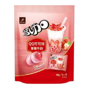 77乳加QQ可可球(草莓牛奶) 160g