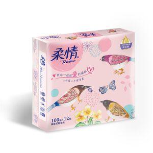 柔情抽取式衛生紙-100PC