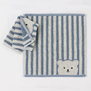 【安心價】條紋彩色熊小方巾