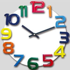 TW-9055木製立體彩色掛鐘