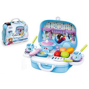 迪士尼系列-隨身盒-冰雪爐台手提箱